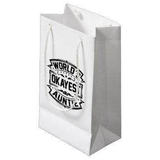 世界のOkayestの伯母さん スモールペーパーバッグ
