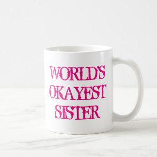 世界のOkayestの姉妹のコーヒー・マグ コーヒーマグカップ