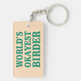 世界のOkayestの鳥類捕獲人 キーホルダー