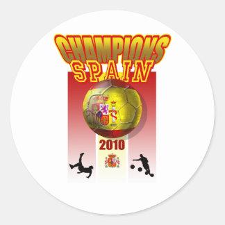 世界はスペイン2010年のエスパーニャのfutbolに挑みます ラウンドシール