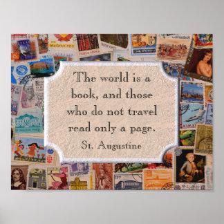 世界は本-芸術のプリントです ポスター