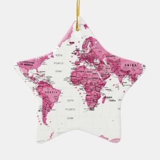 世界は芸術のピンク-子供です セラミックオーナメント