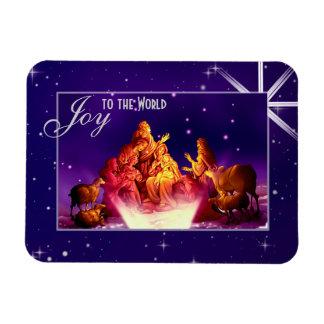 世界への喜び。 クリスマスのギフトの磁石 マグネット