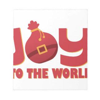 世界への喜び ノートパッド