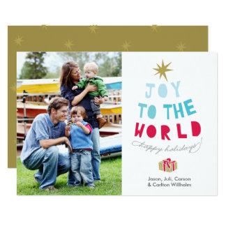 世界への喜び-休日の写真カード-は金ゴールド主演します カード