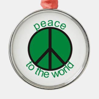 世界への平和 メタルオーナメント