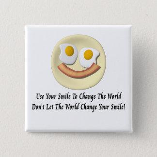 世界を変えるのにあなたのスマイルを使用して下さい 缶バッジ