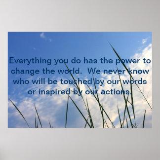 世界を変える力 ポスター