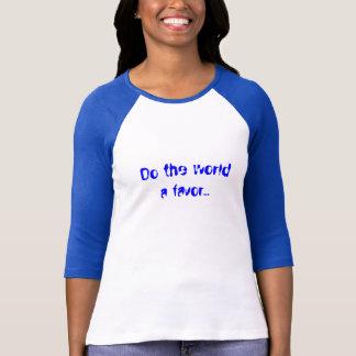 世界を好意…して下さい Tシャツ