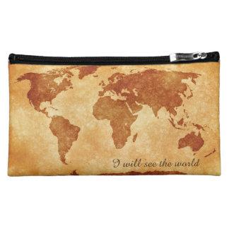 世界を見て下さい コスメティックバッグ