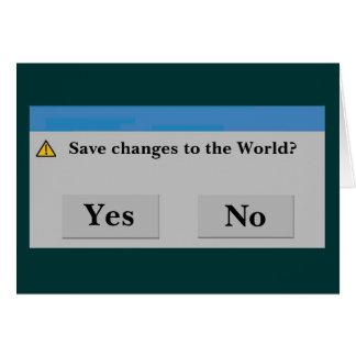 世界カードを救って下さい カード