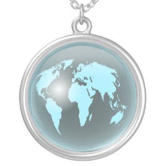 世界ガラスの地球 ネックレス