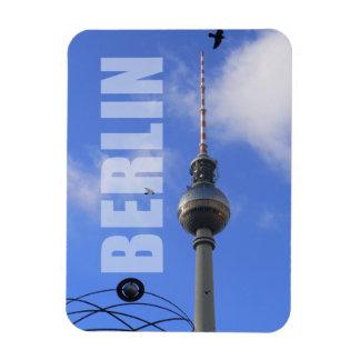 """""""世界タイムレコーダー""""のの詳細が付いているベルリンTVタワー マグネット"""