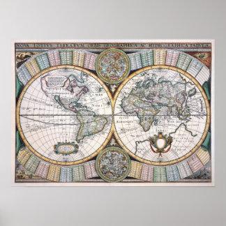 世界ポスターのAnitiqueのレプリカの地図 ポスター