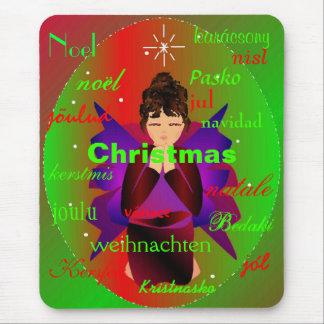 """""""世界中からのクリスマスの天使のIIマウスパッド マウスパッド"""