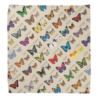 世界中からの30の蝶種(ライト) バンダナ