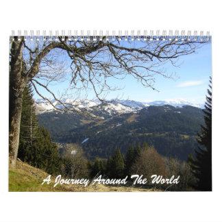 世界中の旅行 カレンダー