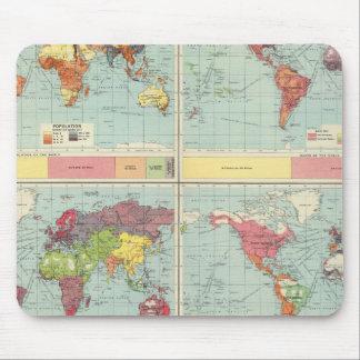 世界人口の地図 マウスパッド