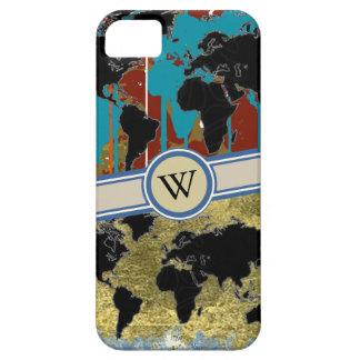 世界地図にイニシャルを加えて下さい iPhone SE/5/5s ケース