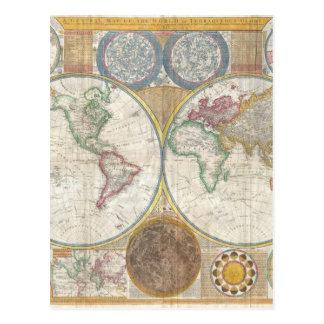 世界地図のギフト ポストカード