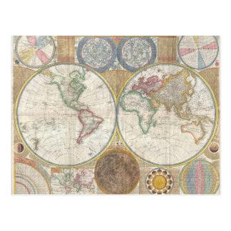 世界地図のギフト 葉書き
