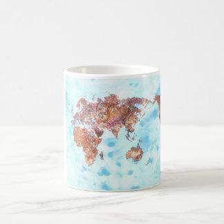 世界地図のコップ コーヒーマグカップ