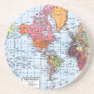 世界地図のコースター コースター