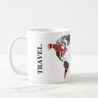 世界地図のタンブラー コーヒーマグカップ