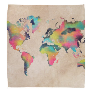 世界地図のバンダナ バンダナ