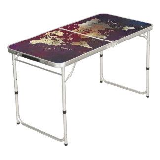 世界地図のパーティーのサイズのPongのテーブル ビアポンテーブル