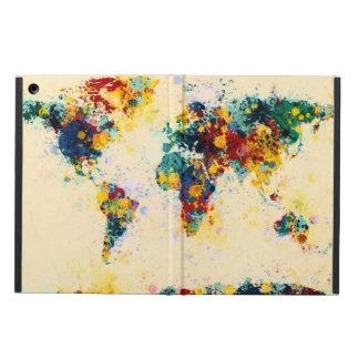 世界地図のペンキははねかけます iPad AIRケース