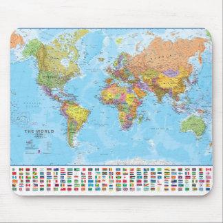 世界地図のマウスパッド/マウスマット マウスパッド