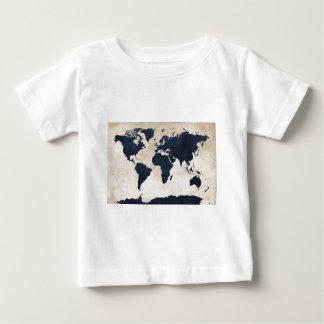 世界地図の動揺してな海軍 ベビーTシャツ
