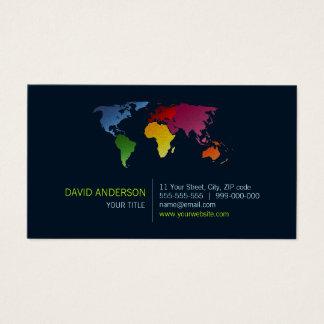 世界地図の名刺 名刺