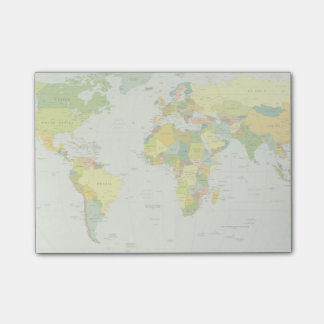 世界地図の地球の地図書の国 ポスト・イット®ノート