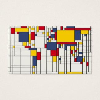 世界地図の抽象芸術のモンドリアンのスタイル 名刺