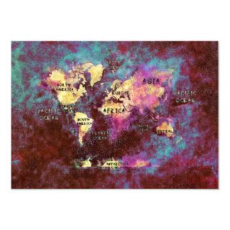 世界地図の招待状 カード