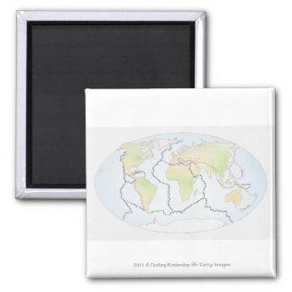 世界地図の提示プレートの差益 マグネット
