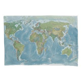 世界地図の枕箱-旅行、wanderlust 枕カバー