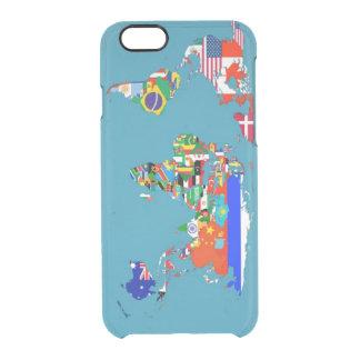 世界地図の箱 クリアiPhone 6/6Sケース