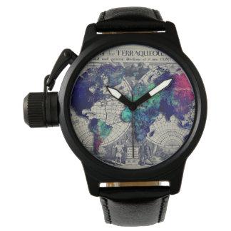 世界地図の腕時計 腕時計