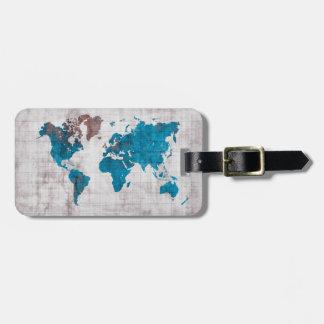 世界地図の荷物のラベル ラゲッジタグ
