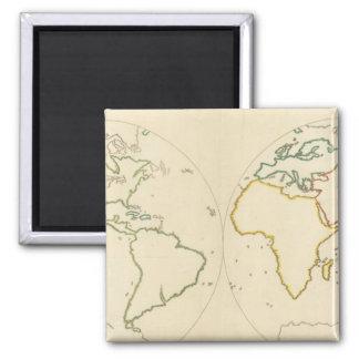 世界地図の輪郭2 マグネット