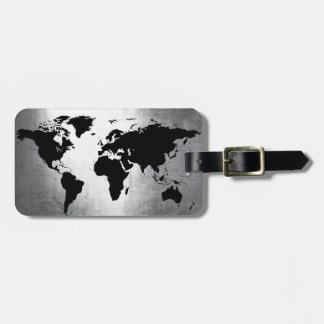 世界地図の金属 ラゲッジタグ