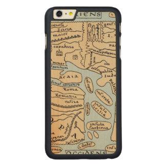 世界地図の2世紀 CarvedメープルiPhone 6 PLUS スリムケース