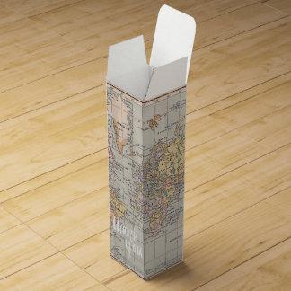 世界地図はワイン用化粧箱感謝していしています ワイン用化粧箱