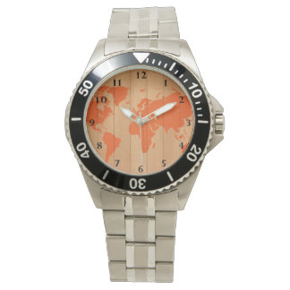 世界地図パターン 腕時計