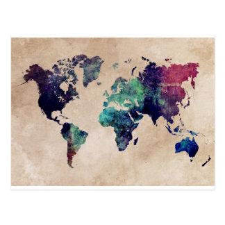 世界地図10 ポストカード