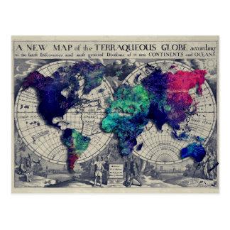 世界地図15 ポストカード