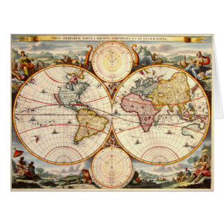 世界地図1680年 カード